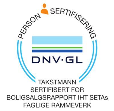 DNV GL - sertifisering, boligtakst, boligsalgsrapport, takstmann